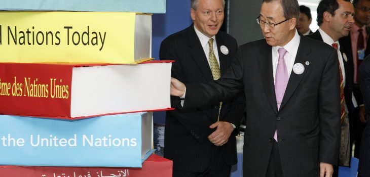 Mr. Secretary General launch the UN Book Day opening and the UN Yearbook  web site.