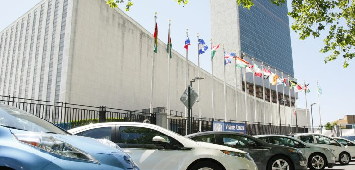 SUSTAINABLE ELECTRICITY EVENT: Looking at Supplying sustainable electricity to billions of 'energy-poor' people; and exploring the role of the E8 group of electricity companies.  Participants arrive at UNHQ by electric cars.