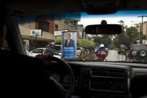 Guatemala welcomes the SG with posters on the roads